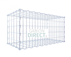 image produit Gabion 100 cm longueur x 40 cm hauteur x 20 cm profondeur