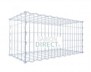 image produit Gabion 100 cm longueur x 50 cm hauteur x 40 cm profondeur