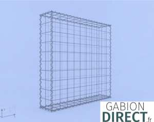 image produit Gabion 100 cm longueur x 100 cm hauteur x 20 cm profondeur