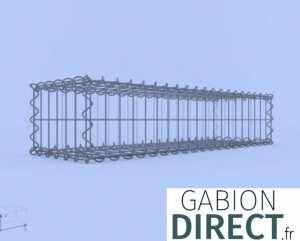 image produit Gabion 100 cm longueur x 20 cm hauteur x 30 cm profondeur