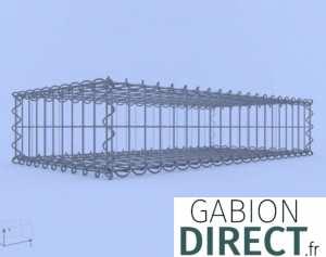 image produit Gabion 100 cm longueur x 20 cm hauteur x 50 cm profondeur