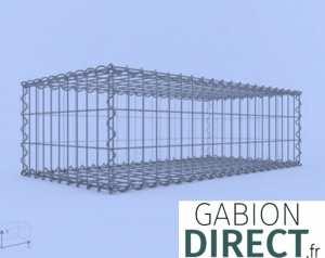 image produit Gabion 100 cm longueur x 30 cm hauteur x 50 cm profondeur