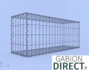 image produit Gabion 100 cm longueur x 40 cm hauteur x 30 cm profondeur