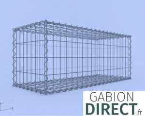 image produit Gabion 100 cm longueur x 40 cm hauteur x 40 cm profondeur
