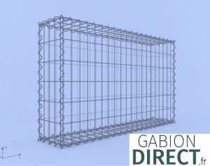image produit Gabion 100 cm longueur x 60 cm hauteur x 20 cm profondeur