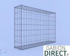 image produit Gabion 100 cm longueur x 70 cm hauteur x 20 cm profondeur