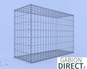 image produit Gabion 100 cm longueur x 70 cm hauteur x 40 cm profondeur