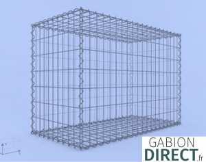 image produit Gabion 100 cm longueur x 70 cm hauteur x 50 cm profondeur