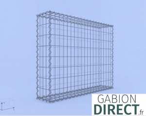 image produit Gabion 100 cm longueur x 80 cm hauteur x 20 cm profondeur