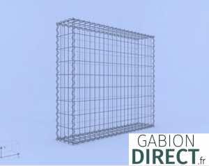 image produit Gabion 100 cm longueur x 90 cm hauteur x 20 cm profondeur