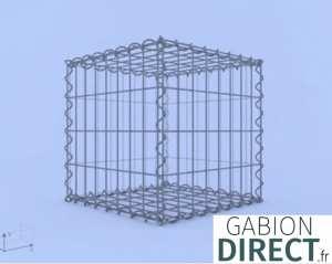 image produit Gabion 40 cm longueur x 40 cm hauteur x 40 cm profondeur