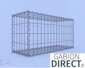image produit Gabion 80 cm longueur x 40 cm hauteur x 30 cm profondeur