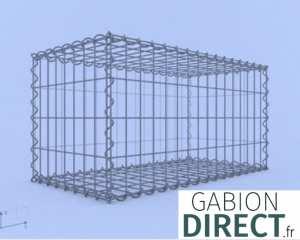 image produit Gabion 80 cm longueur x 40 cm hauteur x 40 cm profondeur