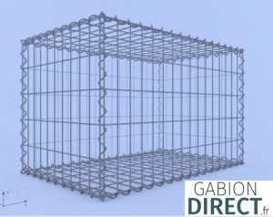 image produit Gabion 80 cm longueur x 50 cm hauteur x 50 cm profondeur