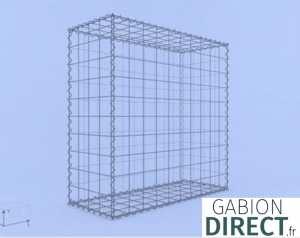 image produit Gabion 100 cm longueur x 100 cm hauteur x 40 cm profondeur