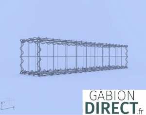 image produit Gabion 100 cm longueur x 20 cm hauteur x 20 cm profondeur