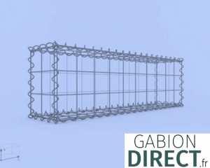 image produit Gabion 100 cm longueur x 30 cm hauteur x 20 cm profondeur