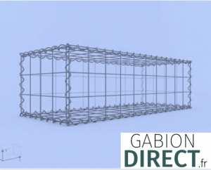 image produit Gabion 100 cm longueur x 30 cm hauteur x 40 cm profondeur