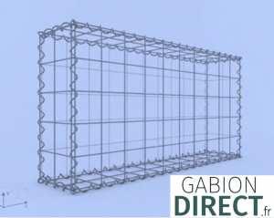 image produit Gabion 100 cm longueur x 50 cm hauteur x 20 cm profondeur