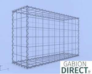 image produit Gabion 100 cm longueur x 60 cm hauteur x 30 cm profondeur