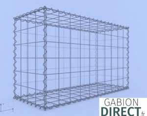 image produit Gabion 100 cm longueur x 60 cm hauteur x 40 cm profondeur