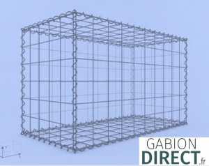 image produit Gabion 100 cm longueur x 60 cm hauteur x 50 cm profondeur