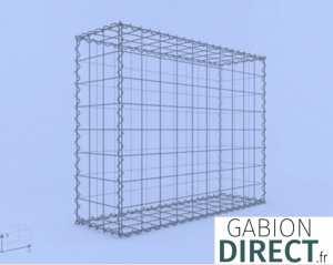 image produit Gabion 100 cm longueur x 80 cm hauteur x 30 cm profondeur