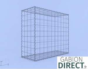 image produit Gabion 100 cm longueur x 90 cm hauteur x 40 cm profondeur