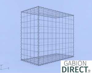image produit Gabion 100 cm longueur x 90 cm hauteur x 50 cm profondeur