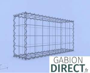 image produit Gabion 80 cm longueur x 40 cm hauteur x 20 cm profondeur